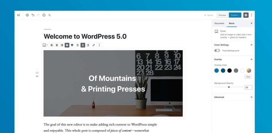Gutenberg editor WordPress